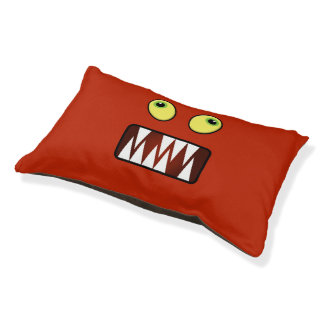 Funny monster face pet bed