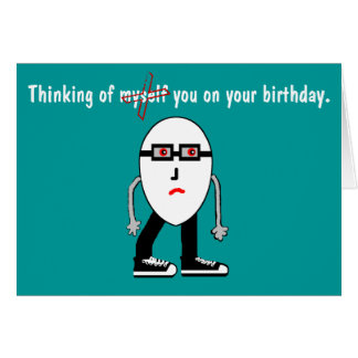 Funny Narcissist Hipster Egg Birthday Card Gift