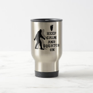 funny nerdy geek big foot sasquatch stainless steel travel mug