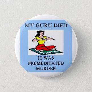 funny new age guru meditation joke 6 cm round badge