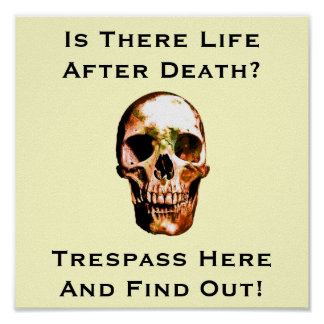 Funny No trespassing sign 2 Poster