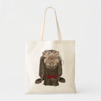 Funny Nubian Goat With Monocle Canvas Bag