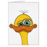 Funny Odd Duck Cartoon Greeting Card