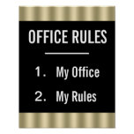 Funny Office Rules Poster