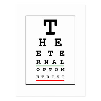Funny Optician Postcard