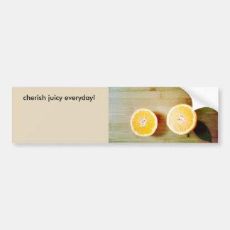 funny orange Bumper Sticker