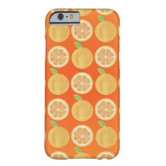 Funny orange Fruits Pattern Barely There iPhone 6 Case