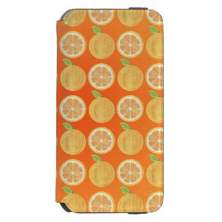 Funny orange Fruits Pattern Incipio Watson™ iPhone 6 Wallet Case