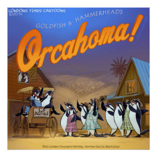 Funny Orca Whale Musical Theater Poster