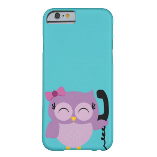 Funny Owl speak on the phone Barely There iPhone 6 Case