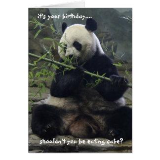 Funny Panda Birthday Card, Eat Cake, not bamboo! Card