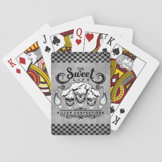 Funny Pastry Chef Skulls: The Sweet Life Playing Cards