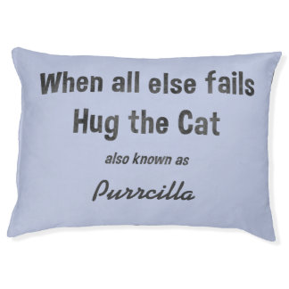 Funny Personalized cat bed Choose background color