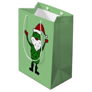 Funny Pickle Santa Claus Gift Bag