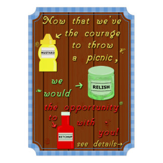 Funny Picnic Cookout Party Pun Personalized Invites