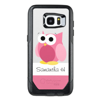 Funny Pink Owl Personalised Samsung Galaxy S7 Edge