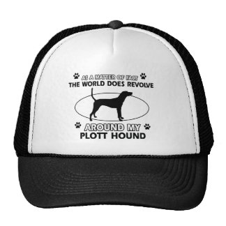 Funny PLOTT HOUND designs Cap