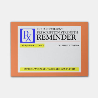 Funny Prescription Label Post-it® Notes