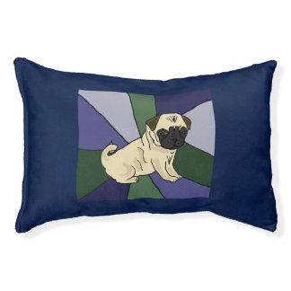 Funny Pug Abstract Art Dog Bed