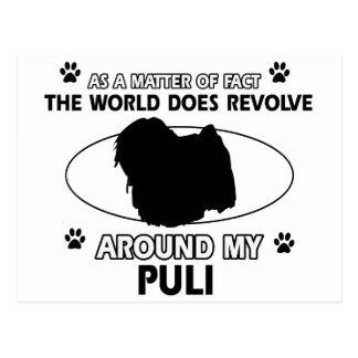 funny PULI designs Postcard