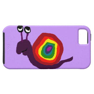 Funny Rainbow Art Snail Case For The iPhone 5