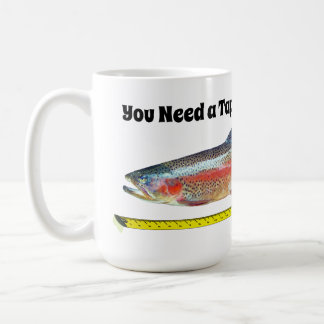 Funny Rainbow Trout and Tape Measure Coffee Mug