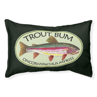 Funny Rainbow Trout Bum Fishing Pet Bed