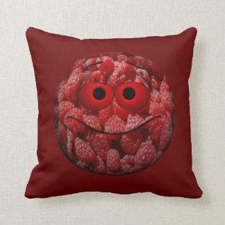 Funny Raspberry Emoticon Cushion