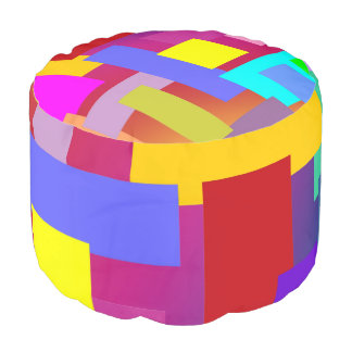 FUNNY RECTANGLES PATTERN I + your idea Pouf