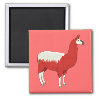 Funny Red Llama Magnet