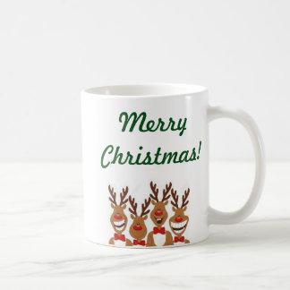 Funny Reindeer Basic White Mug