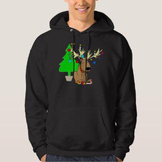Funny Reindeer Holiday Hoodie