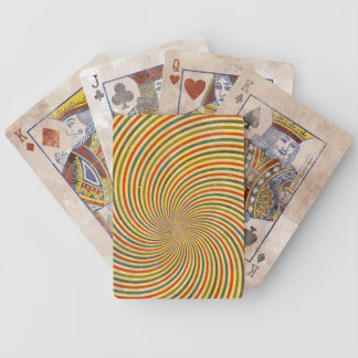 Funny Retro Grunge Swirl + your idea Bicycle Playing Cards
