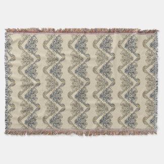 Funny Retro Wallpaper - sand blue Throw Blanket