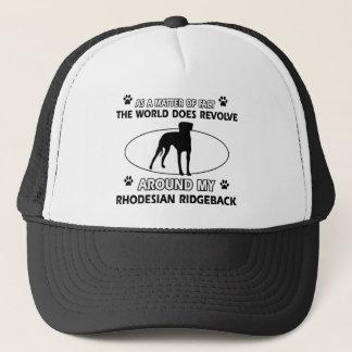 funny RHODESIAN RIDGEBACK designs Trucker Hat