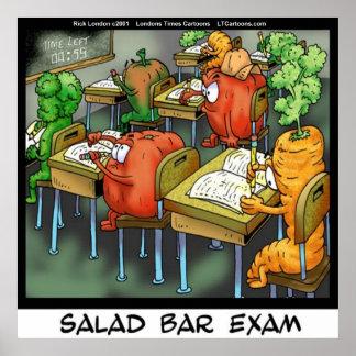 Funny Salad Bar Exam Poster