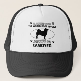 funny SAMOYED designs Trucker Hat