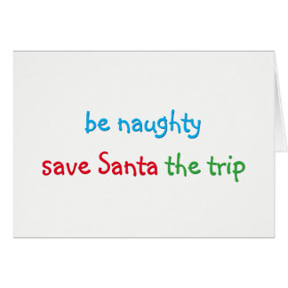 Funny Santa Joke Custom Christmas Holiday Card