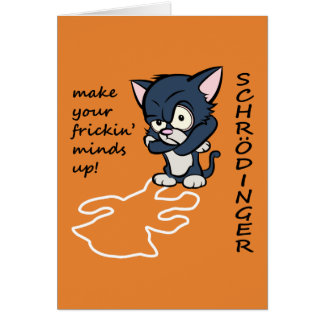 Funny Schrodinger's Cat Card