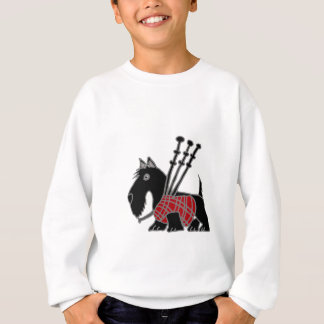 Funny Scottish Terrier puppy dog Playing Bagpipes Sweatshirt
