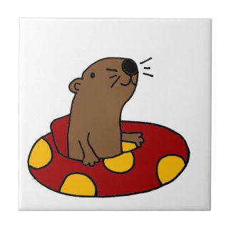Funny Sea Otter Tubing Tile