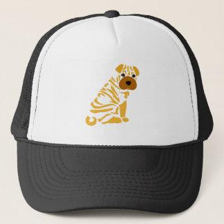 Funny Shar Pei Puppy Dog Abstract Art Trucker Hat