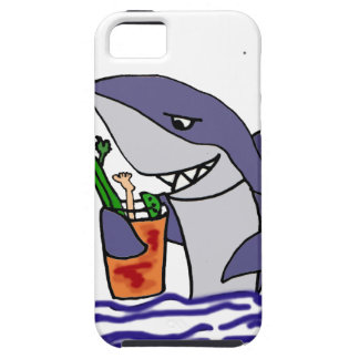 Funny Shark Drinking Bloody Mary iPhone 5 Cover