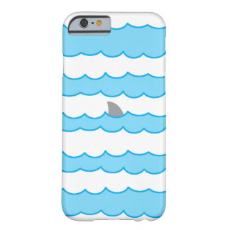 Funny Shark Fin on Water Illustration Barely There iPhone 6 Case