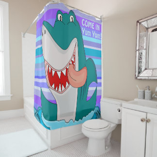 Funny Shark Shower Curtain