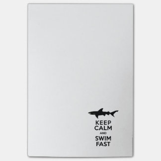 Funny Shark Warning - Keep Calm and Swim Fast Post-it® Notes