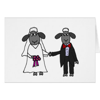 Funny Sheep Wedding Cartoon Card