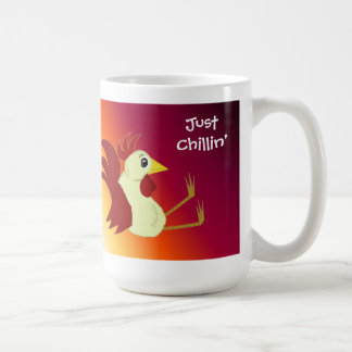 Funny Sitting Rooster Just Chillin' Mugs