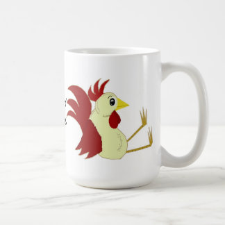 Funny Sitting Rooster Mugs