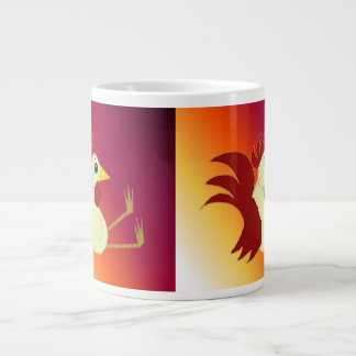 Funny Sitting Rooster Extra Large Mug